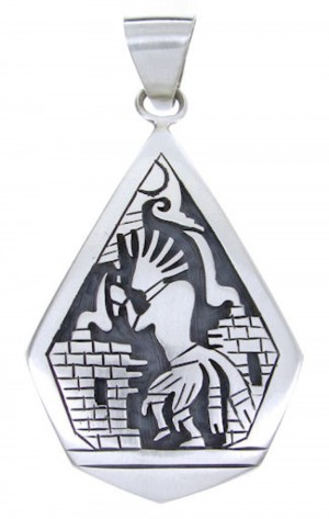 George Phillipis Native American Hopi Kokopelli Pendant YS64409