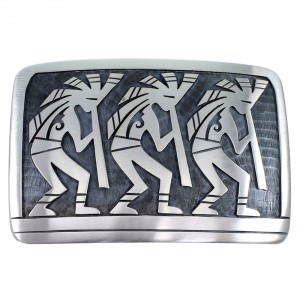 George Phillips Kokopelli Silver Hopi Indian Belt Buckle EX48110