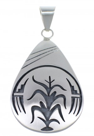 George Phillips American Indian Sterling Silver Corn Stalk Pendant EX53865
