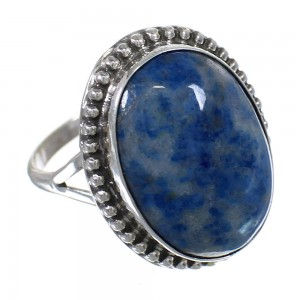Sterling Silver Native American Denim Lapis Ring Size 6-3/4 RX63208