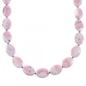 Rhodochrosite And Hematite Navajo Sterling Silver Bead Necklace AX99962