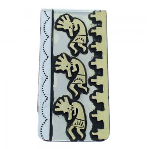 Kokopelli 12KGF Sterling Silver Tommy And Rose Singer Navajo Money Clip AX101185