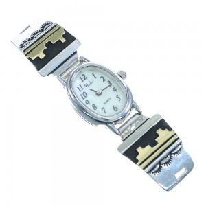 Genuine Sterling Silver 12 Karat Gold Filled Tommy And Rose Singer Navajo Watch RX101842
