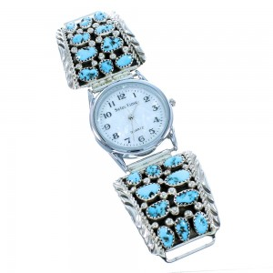 Navajo Indian Turquoise Genuine Sterling Silver Watch SX105453