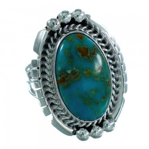 Sterling Silver Turquoise Navajo Indian Ring Size 5-3/4 SX105830