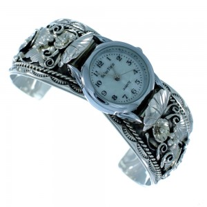 Navajo Indian Genuine Sterling Silver Cuff Watch SX105573