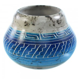 Horse Hair Navajo Hand Crafted Pottery By N. Mariano And T. Whitegoat