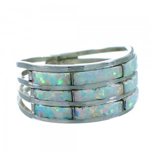 Zuni Opal And Genuine Sterling Silver Ring Size 6-3/4 SX107861
