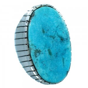 Authentic Sterling Silver Turquoise Navajo Ray Jack Ring Size 9-3/4 RX109557