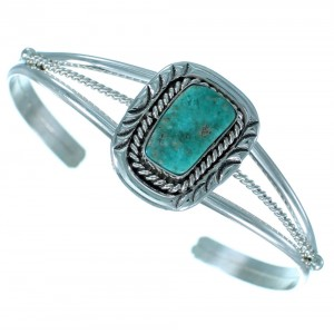 Navajo Turquoise Sterling Silver Cuff Bracelet RX110463
