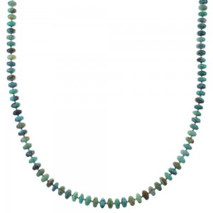 Sterling Silver Native American Turquoise Bead Necklace AX85141