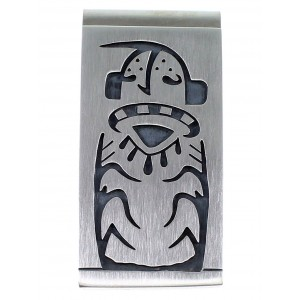 George Phillips Hopi Kokopelli Corn Stalk Silver Money Clip EX48830
