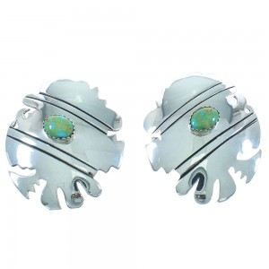 Tommy And Rose Singer Native Ameircan Turquoise Sterling Silver Post Earrings RX100961