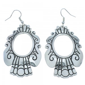 American Indian Tommy And Rose Singer Sterling Silver Hook Dangle Earrings RX101007