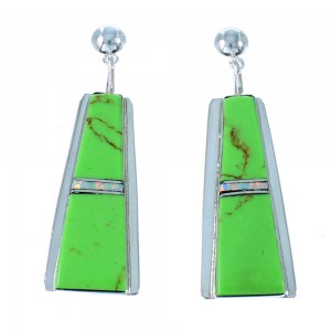 Navajo Gaspiete And Opal Sterling Silver Post Dangle Earrings SX106060