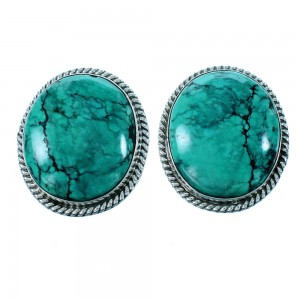 Navajo Indian Turquoise Authentic Sterling Silver Post Earring SX106609