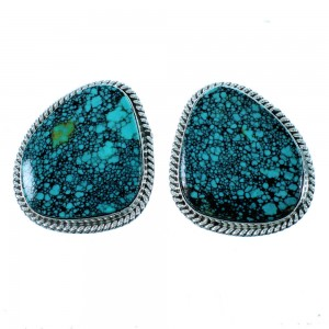 Genuine Sterling Silver Turquoise Native Ameican Post Earrings SX106611