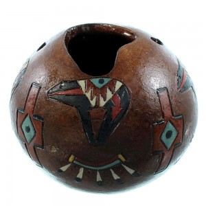 Navajo Bear And Bear Paw Pot Hand Crafted By Artist Nancy Chilly SX107034