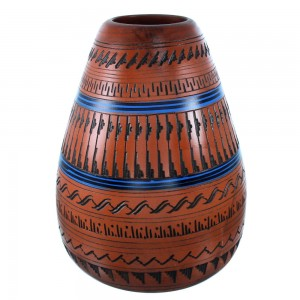 Native American Hand Crafted Pot By Navajo Artist Derrick Watchman SX107091