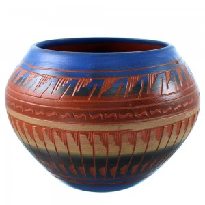 Hand Crafted Native American Pot By Navajo Artist Bernice Watchman Lee SX107165