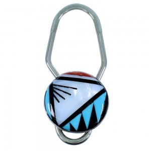 Zuni Multicolor Authentic Sterling Silver Key Chain RX107221