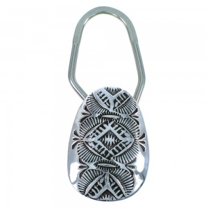 Sterling Silver Native American Jewelry Key Chain RX107223