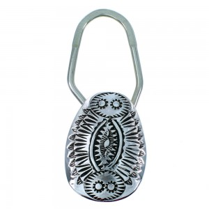Genuine Sterling Silver American Indian Jewelry Key Chain RX107224