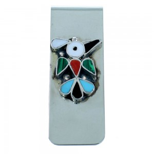 Multicolor Thunderbird Sterling Silver Zuni Money Clip SX107267