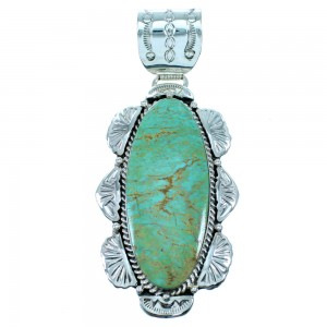 Sterling Silver American Indian Turquoise Pendant SX107369