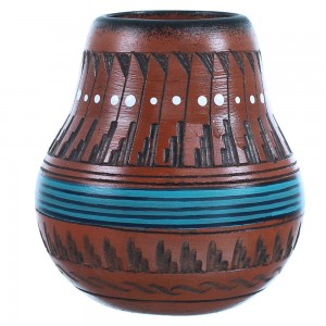Navajo Hand Crafted Pottery By Artist Shyla Watchman SX108196