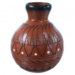 Native American Vase Hand Crafted By Artist Shyla Watchman SX108240
