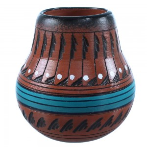 Navajo Pot Hand Crafted By Native American Artist Shyla Watchman SX108204