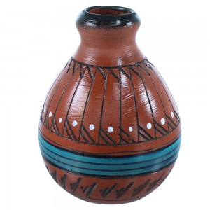 American Indian Hand Crafted Navajo Pot By Artist Shyla Watchman SX108234