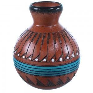 American Indian Vase Hand Crafted By Navajo Shyla Watchman SX108242