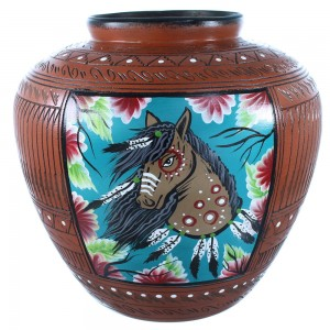 Navajo Horse Pottery Hand Crafted By Artist Shyla Watchman SX108272