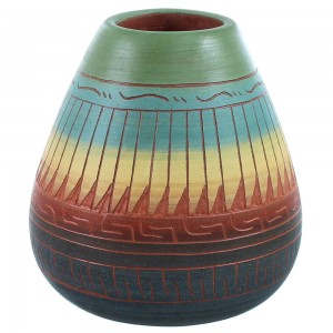 Navajo Indian Hand Crafted Pot By Artist Marilyn Kinliche RX108960