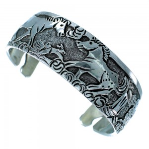 Navajo Indian Horse Sterling Silver Cuff Bracelet SX109285