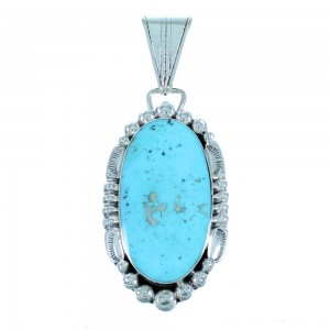 Genuine Sterling Silver Navajo Turquoise Pendant SX109574