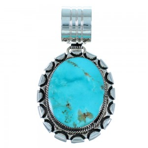 Sterling Silver And Navajo Turquoise Pendant SX109589