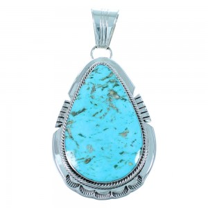 Kingman Turquoise American Indian Genuine Sterling Silver Pendant RX110296