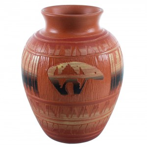 Navajo Hand Crafted Bear Pot By Bernice Watchman Lee SX110383