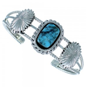 Native American Turquoise Sterling Silver Cuff Bracelet SX110467