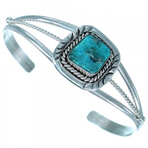 Turquoise Sterling Silver Native American Cuff Bracelet RX110470