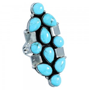 Navajo Turquoise Sterling Silver Ring Size 5-3/4 RX110609