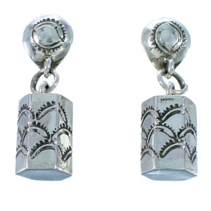 Navajo Stering Silver Post Dangle Earrings SX110723