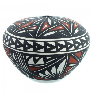 Native American Acoma Pot Hand Crafted By Lindsey Poncho SX111779