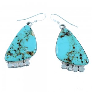 Sterling Silver And Turquoise Navajo Hook Dangle Earrings SX112025