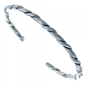 Twisted Sterling Silver Navajo Cuff Bracelet BX115770