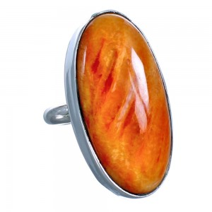 Native American Genuine Sterling Silver Oyster Shell Ring Size 10 CS118074