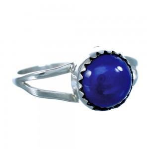 Sterling Silver Lapis Native American Ring Size 7-1/4 BX118539